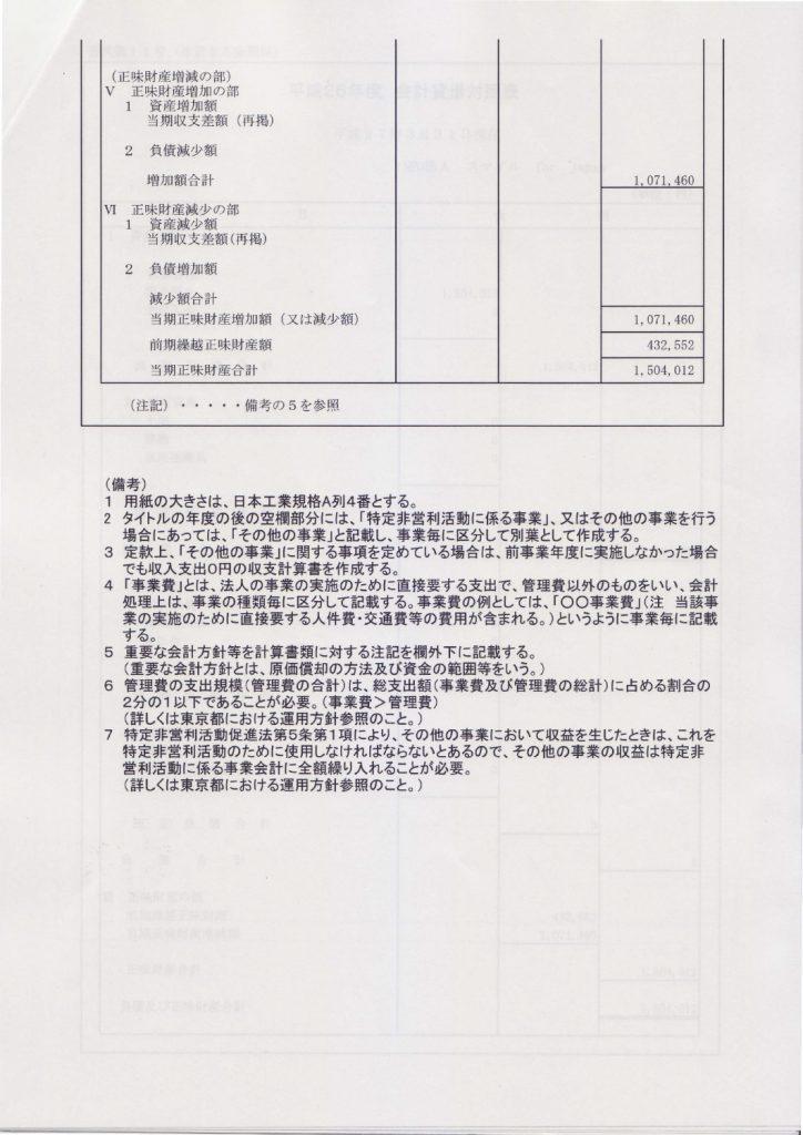 平成26年度収支報告-2